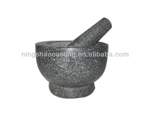 100% natrual granite mortar and pestle with polished surface