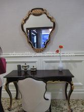 Francés antiguo aparador con espejo mueblesdelhotel/tallado en madera sólida de escritorio y una silla/noble dormitorio cómoda silla con wr090