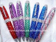 promotion bling Diamond shining crystal acrylic ballpoint ball pen