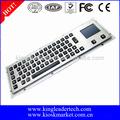 metal resistente impermeável diodo emissor de luz do computador teclado com touchpad