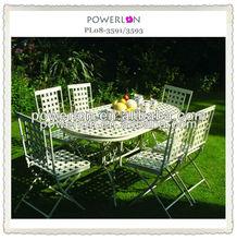 7pcs Folding Wrought Iron Home&Garden outdoor furniture