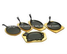 cast iron preseasoned baking pan/fajita set