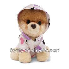 Cute soft plush dressed dog toys, stuffed dressed dog toys