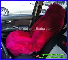 2015 design long hair sheepskin car seat cover