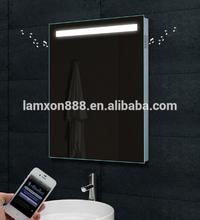High-end LED lighting MP3 bluetooth bathroom mirror for villa
