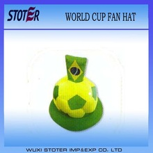 2014 brazil fan hat/ football fan world cup hat / hat for fans