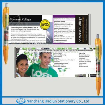 2014 high quality plastic advertising flag pen
