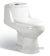 Economy ceramic siphonic one-piece sanitaryware 385