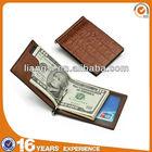 656973378 2014 new fashion crocodile leather money clip