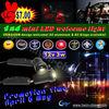 Buy one set get 1 pair film free Car LED Logo Lights 12v 5w for Cadillac auto