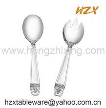 European salad spoon and salad fork