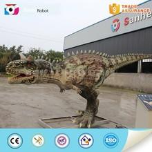Amusement park with music life-size dinosaur