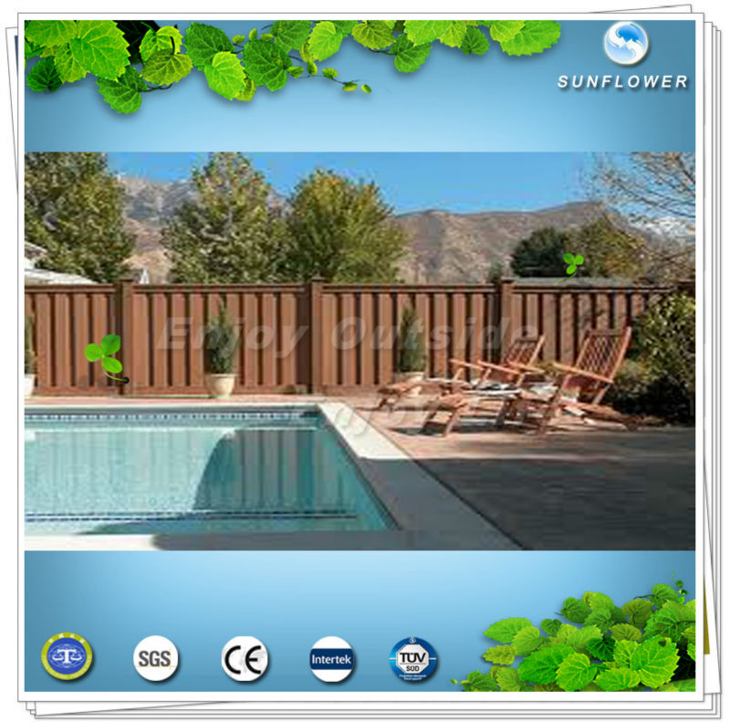 wood plastic composite (wpc) materal picket fence&railing