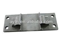 la placa base para la fijación de carril de entrada de madera o de las traviesas de hormigón