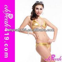 Golden hot girl sheer bikini swimwear sex wholesale