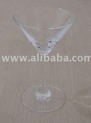crystal martini glass, cocktail glass