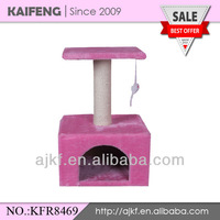2013 Hot Sales Wooden Cheap Cat House Cat Trees Furniture With Free Cat Toy