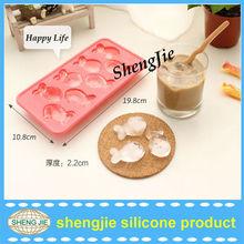 2013 creative food grade custom silicone unique ice cube trays/silicone ice cube tray with lid