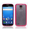 Hot Pink Matte TPU PC Combo Case for samsung galaxy s4 i9500