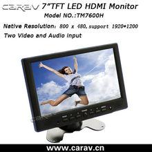 7 inch plastic hdmi,AV,VGA touchscreen monitor