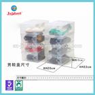 clear hard small plastic transparent shoe box