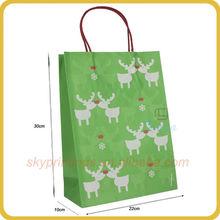 Lively White kraft animal print paper bag for packaging wholesale