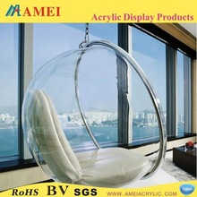 2013 Hot acrylic hanging bubble chair/Customized acrylic hanging bubble chair