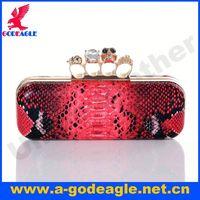 2013 Fashion skull ladies bridal clutch bags U0005-004