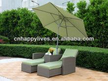 Rattan wicker patio outdoor garden furniture 2 pc lounge suite HL-2014