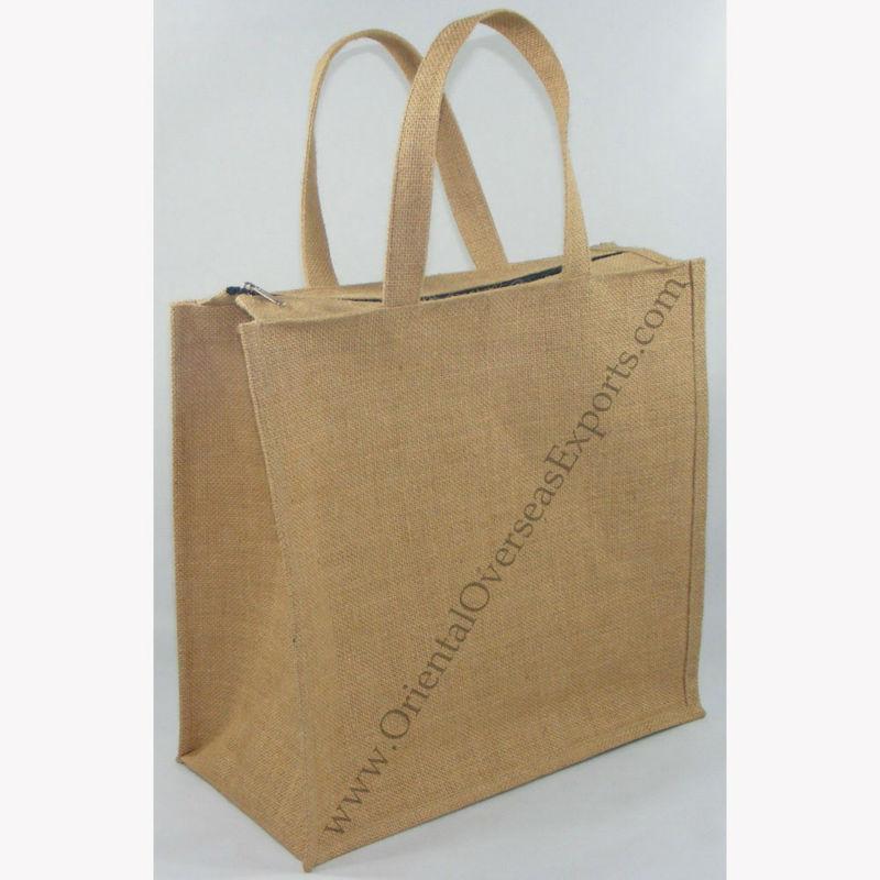 jute bag with zip