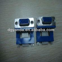 D-Sub DB 9P/15P/25P/37P Female Hi-rise R/A connector