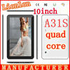 10inch A31S Google quad core tablet PC 10inch Android 4.4 Tablet pc 1G RAM 8GB 16GB 32GB ROM bluetooth HDMI dual camera
