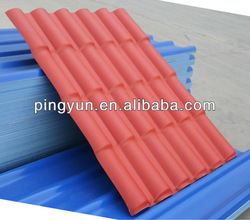 Alibaba PVC roofing materials spanish tile for villa warehouse