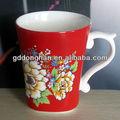 china fabricante de fancy baratos cerâmica copo de barro com identificador exclusivo para a venda