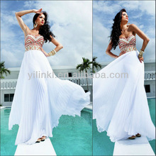 Gorgeous A-line Sweetheart Open Back White and Red Color Puffy Garden Wedding Evening Dress 2014