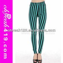 2014Elegant stripes tight girls pictures sexy pantyhose leggings