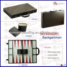 Leather backgammon set case,portable backgammon set