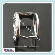ID 20166 Bail pendant pinch style brass donut glass locket pendants
