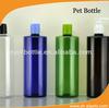500ML flat shoulder plastic clear PET bottle