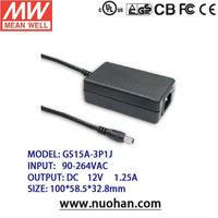 Mean Well 12v power supplies/ 12~15W AC-DC Single Output Desktop/12v adaptor