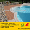 Wood Grain Wood Plastic Composite Decking Anti- UV Hollow Boards Waterproof Outdoor WPC Flooring