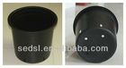 7 gallon round plastic black flower pot, nursery pot, nursery planter