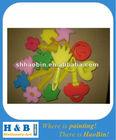 plastic handle colour stamper foam brush