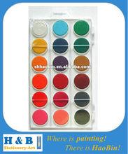 18 color watercolor cakes paints set