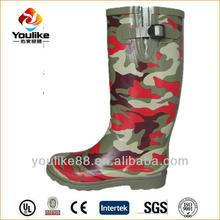 YL8002 Cheap Women Camo Rubber Rain Boots