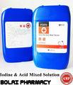 iodo e ácido líquido desinfectante