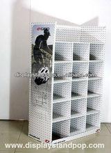 Basketball demonstrating corrugated custom cardboard display