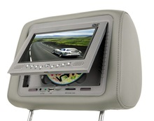 7 inch headrest auto dvd player with zipper cover,TV,FM,IR function