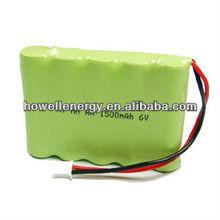 NiMH 6V Battery/ AA 6V Battery/ 1500mAh 6V Battery