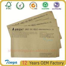 Packing List Envelope Non-Printed Zipper Closure